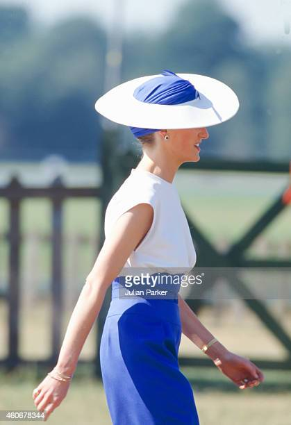 WINDSOR ENGLAND JUNE 20 Diana Princess of Wales attends Smiths Lawn Polo Windsor after The Royal Ascot race meeting on June 20 1989 in Ascot United...
