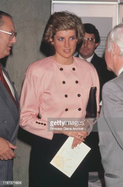 Diana, Princess of Wales attends the AGM of the Help the Aged charity in London, UK, 8th July 1988.