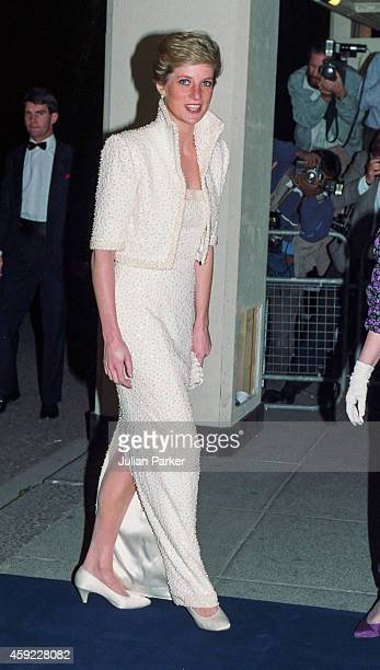 Diana, Princess of Wales attends The British Fashion Awards, at The Royal Albert Hall, on October 17, 1989 in London, United Kingdom.
