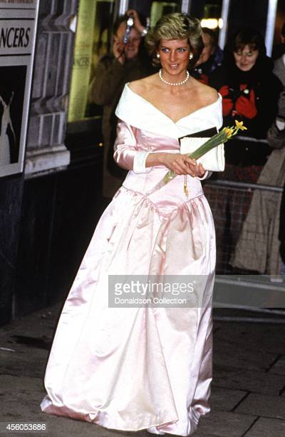 Diana Princess of Wales attends the charity premiere of the film 'Who Framed Roger Rabbit on November 21 1988 in London England