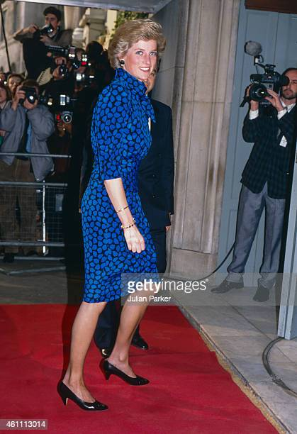 Diana Princess of Wales attends The Evening Standard Theatre Awards at The Savoy Hotel in London's West End on November 14 1989 in London United...