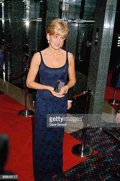 Diana Princess of Wales attends the London premiere of 'In Love and War' at the Odeon Leicester Square 12th February 1997