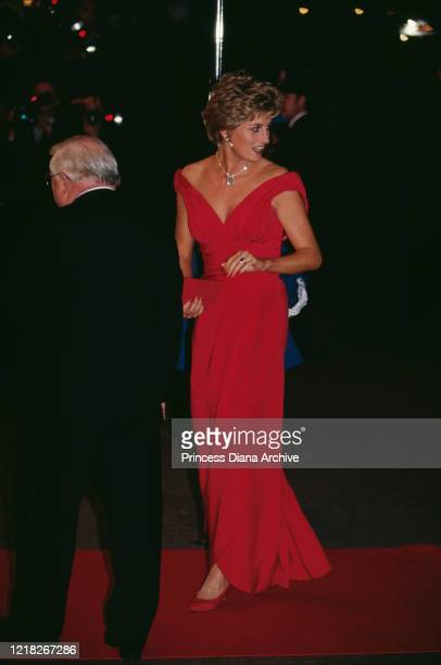 Diana, Princess of Wales attends the premiere of the film 'Just Like A Woman' in London, 24th September 1992.