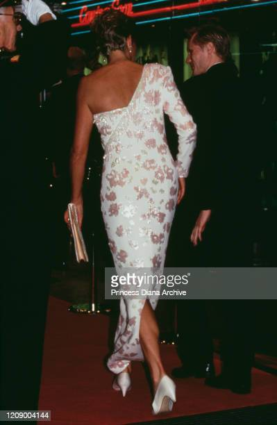 Diana, Princess of Wales attends the premiere of the film 'Stepping Out' at the Empire Leicester Square in London, 19th September 1991. She is...