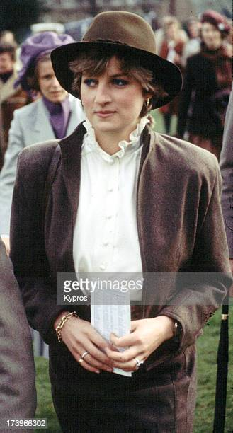 Diana Princess of Wales attends the races UK circa 1981