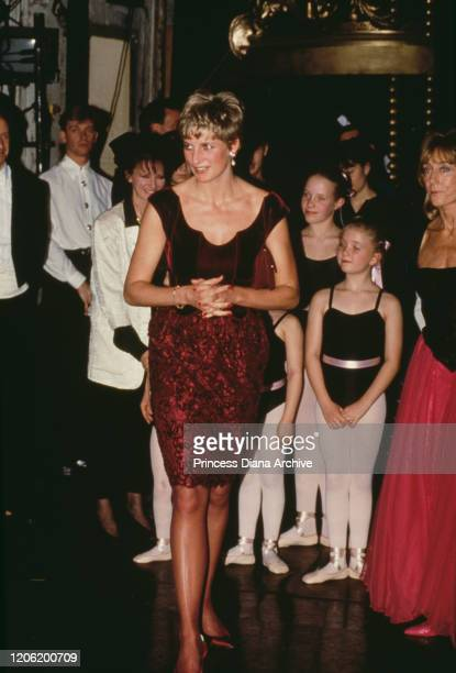 Diana, Princess of Wales attends the show 'Dance For Life' in aid of HIV charity Crusaid at Her Majesty's Theatre in Haymarket, London, 1st December...