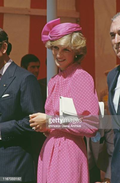 Diana, Princess of Wales attends the Sunshine Coach Lunch for the Variety Club of Great Britain New Bus Appeal at the Guildhall in London, July 1983.