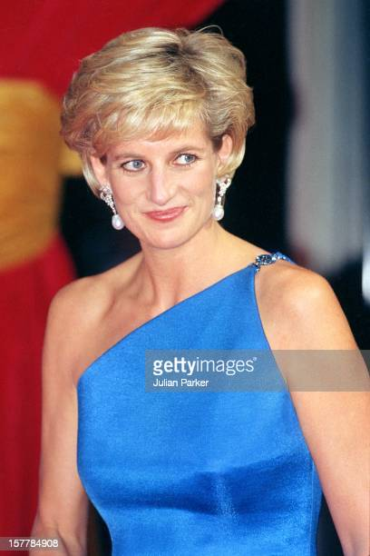Diana, Princess Of Wales Attends The Victor Chang Research Institute Dinner Dance During Her Visit To Sydney, Australia.