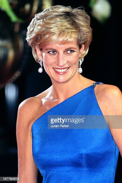 Diana Princess Of Wales Attends The Victor Chang Research Institute Dinner Dance During Her Visit To Sydney Australia