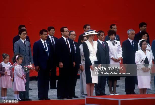 Diana, Princess of Wales, during a formal visit to Akasaka Palace, Tokyo, Japan, 10th May 1986.
