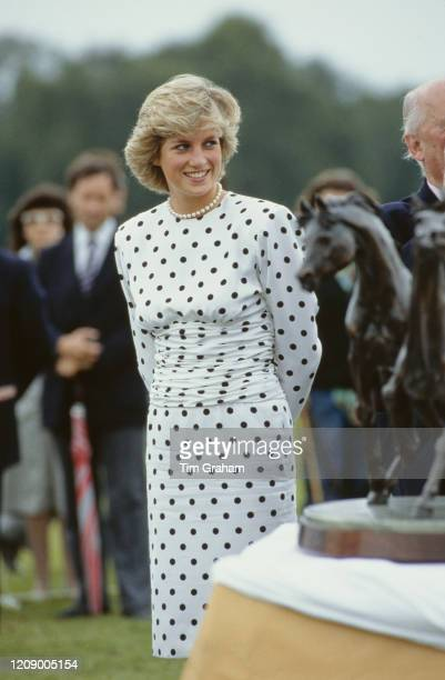 Diana Princess of Wales during a polo match at Windsor UK 26th June 1987
