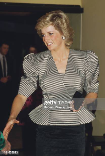 Diana Princess of Wales during a reception at Grocers' Hall in London 1st October 1987