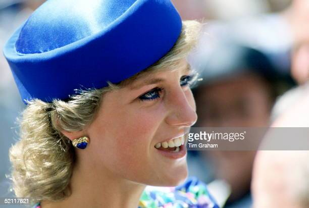 Diana Princess Of Wales During A Tour Of Australia
