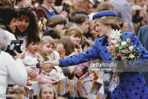 Diana Princess of Wales during a trip to Canada May 1986