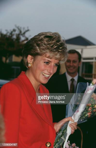Diana Princess of Wales during a visit to Banbury in Oxfordshire October 1991