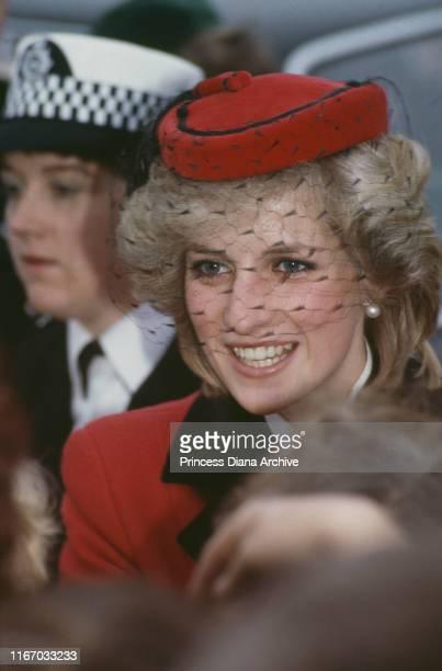 Diana, Princess of Wales during a visit to Bristol, UK, November 1983.