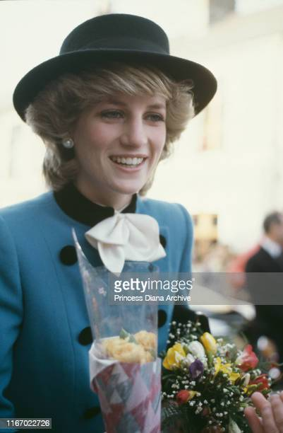 Diana, Princess of Wales during a visit to Cardiff in Wales, November 1982.