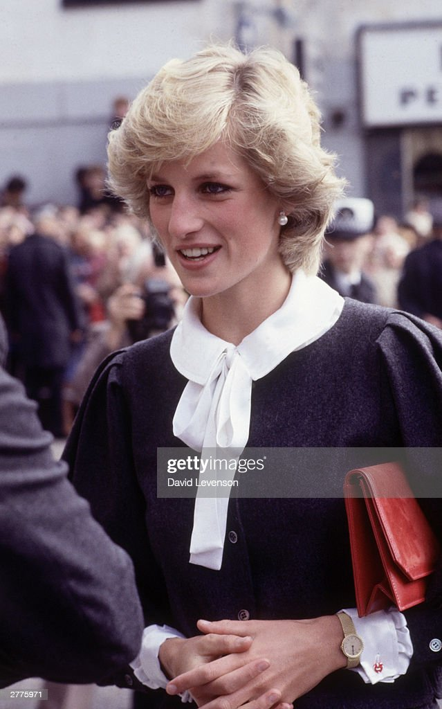 Diana Princess of Wales during a visit to Coatbridge in Lanarkshire : News Photo