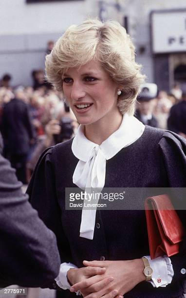 Diana Princess of Wales during a visit to Coatbridge on September 9 1983 in Lanarkshire Scotland