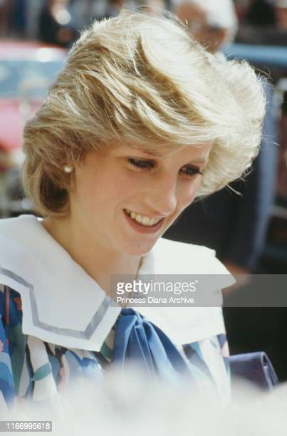 Diana Princess of Wales during a visit to Glasgow in Scotland May 1984