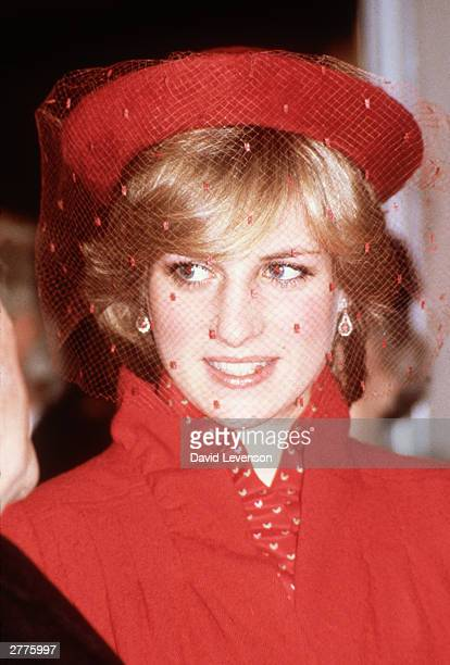 Diana Princess of Wales during a visit to Guildford Cathedral on December 211981 in Guildford Surrey