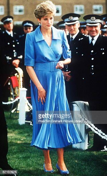 Diana, Princess Of Wales During A Visit To Liverpool.