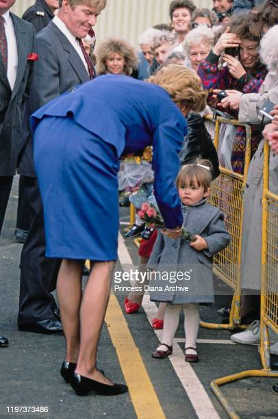 Diana, Princess of Wales during a visit to Luton, UK, 11th October 1988.