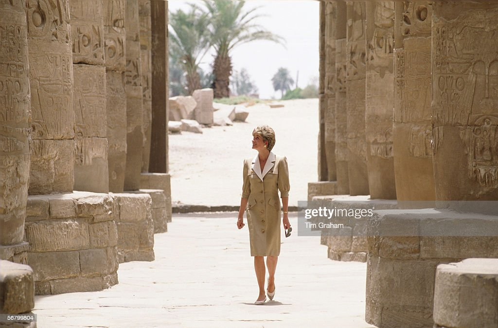 Diana Egypt Visit : News Photo