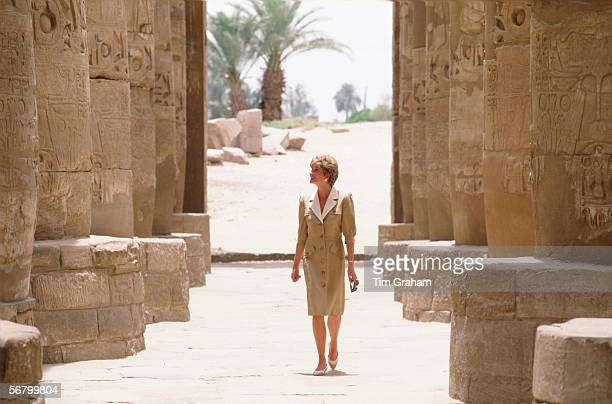 Diana, Princess of Wales during a visit to Luxor in Egypt.