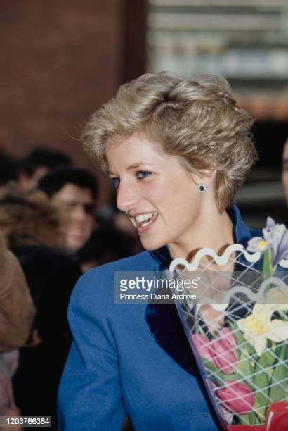 Diana, Princess of Wales during a visit to Manchester, January 1990.
