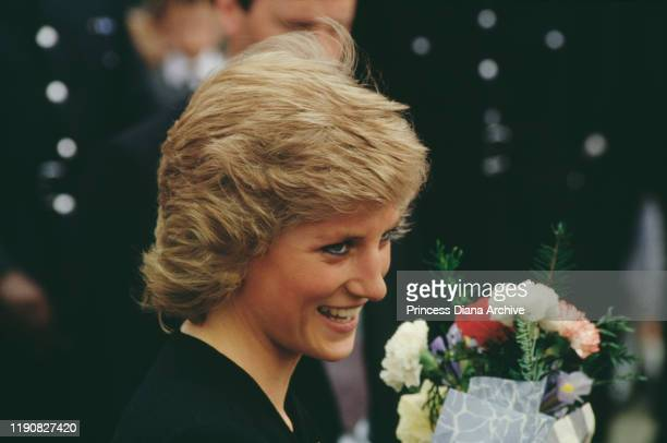 Diana, Princess of Wales during a visit to Newcastle and Stoke-on-Trent in the north of England, 19th April 1988.