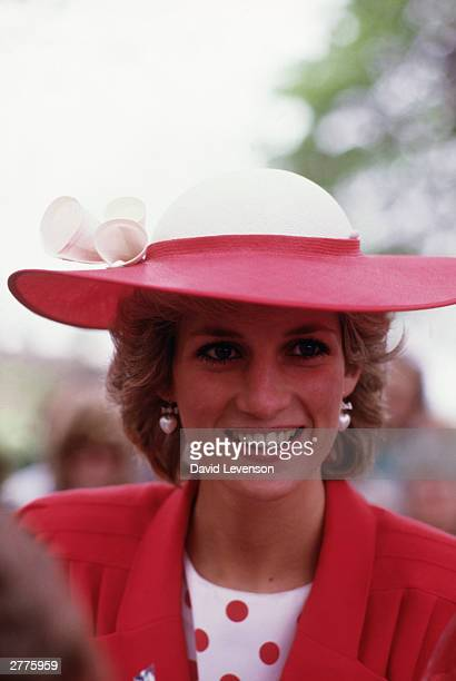 Diana Princess of Wales during a visit to Newcastle on May 21 1985