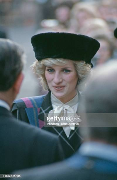 Diana, Princess of Wales during a visit to Shrewsbury in Shropshire, December 1984.