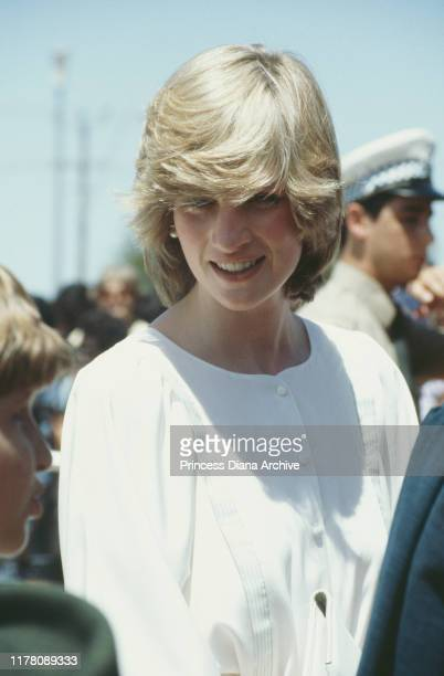 Diana Princess of Wales during a visit to Tennant Creek in the Northern Territory of Australia March 1983