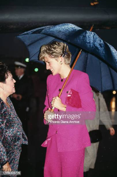 Diana, Princess of Wales during a visit to the Science Museum in Sudbury, Canada, 24th October 1991.