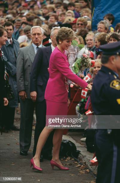 Diana Princess of Wales during a visit to the Science Museum in Sudbury Canada 24th October 1991