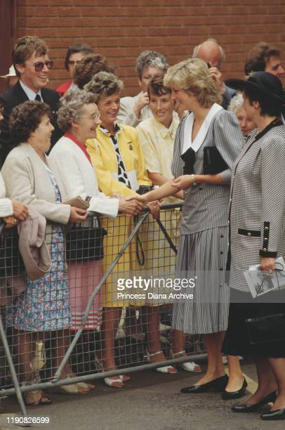 Diana, Princess of Wales during a visit to Worksop, in the north of England, September 1987.
