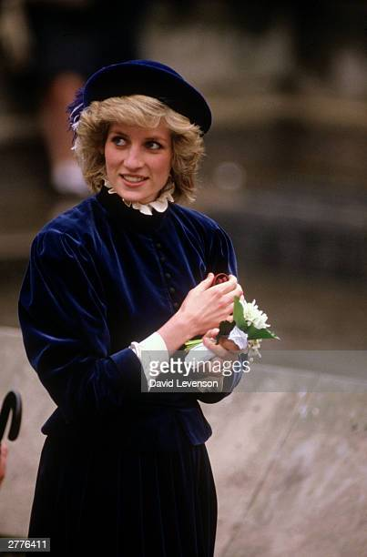 Diana Princess of Wales during a visito n March 7 1985 to Nottingham
