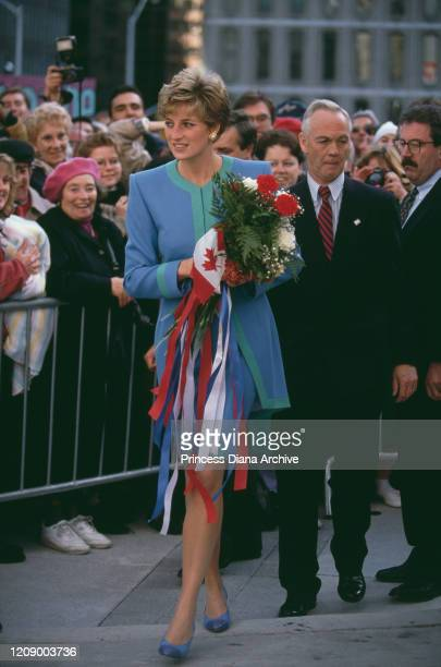 Diana Princess of Wales during a walkabout in Ottawa Canada 29th October 1991
