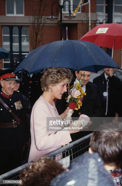 Diana Princess of Wales during a walkabout in StocktononTees England 23rd September 1992