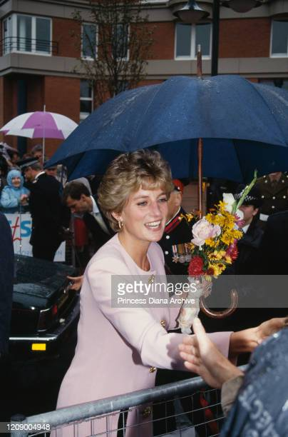 Diana Princess of Wales during a walkabout in StocktononTees in England 23rd September 1992