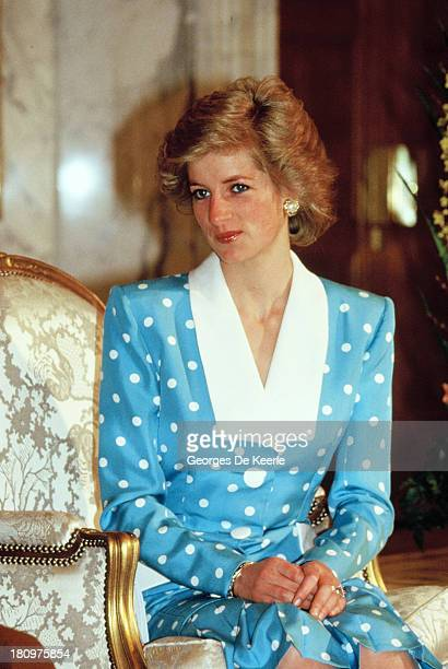 Diana Princess of Wales during her official tour of the Gulf States on March 13 1989 in Kuwait City United Arab Emirates
