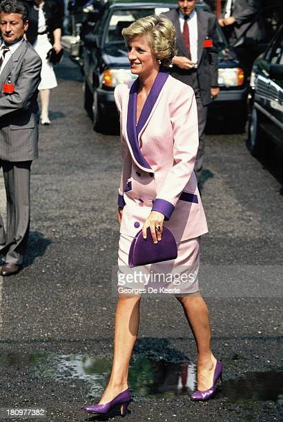 Diana Princess of Wales during her official visit to Hungary on May 8 1990 in Budapest Hungary