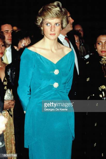 Diana Princess of Wales during her official visit to Indonesia on November 1989 in Jakarta Indonesia