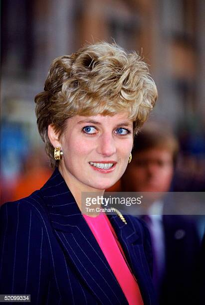 Diana Princess Of Wales During Her Visit To Lille In France