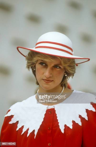 Diana Princess of Wales during the Royal Tour of Canada on June 29, 1983 in Edmonton, Alberta, Canada