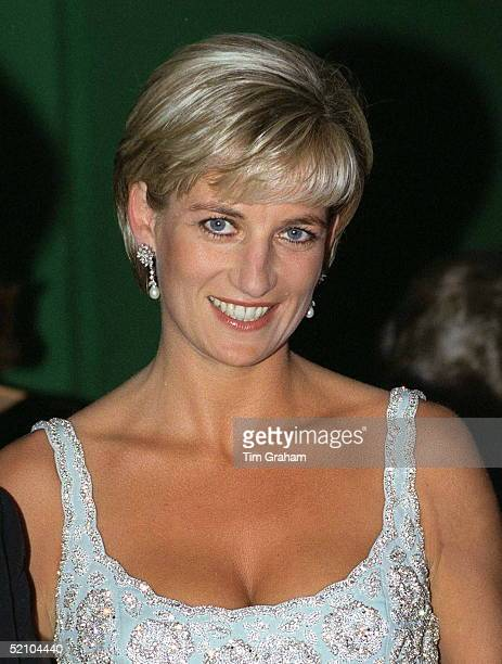 Diana Princess Of Wales Happy And Smiling At A Private Viewing And Reception At Christies In Aid Of The Aids Crisis Trust And The Royal Marsden...