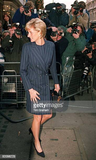 Diana Princess Of Wales Having Her Picture Taken By Press Photographers After Attending Centrepoint's Christmas Campaign To Help Runaway Children...