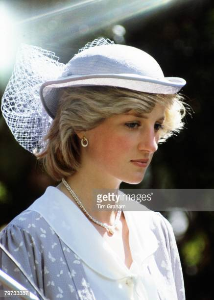 Diana Princess of Wales in Australia during a Royal Tour