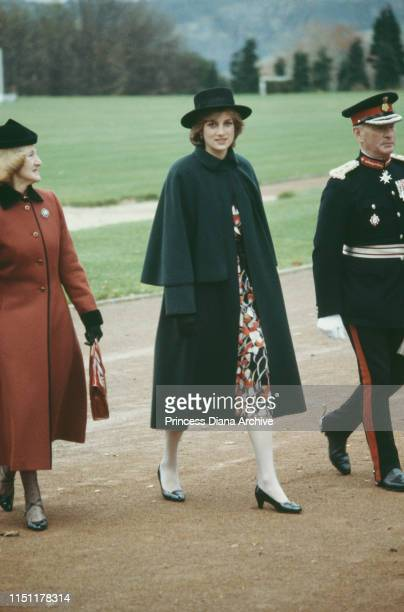 Diana Princess of Wales in Chesterfield 12th November 1981 She is wearing a maternity dress by Donald Campbell